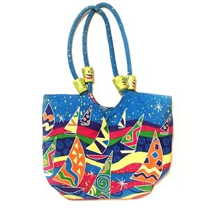 VTG 90s style beach tote bag by CASABLANCA BAGS